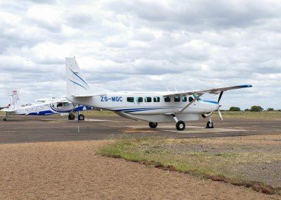 small plane charter african bushveld safari botswana
